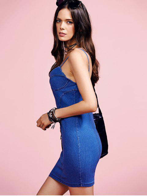 shops Blue Denim Cami Bodycon Dress - LIGHT BLUE M Mobile