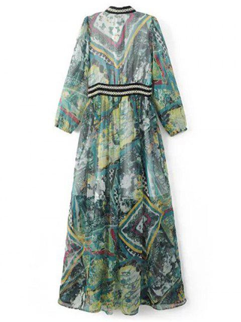 women's Beading Maxi Chiffon Dress - COLORMIX M Mobile