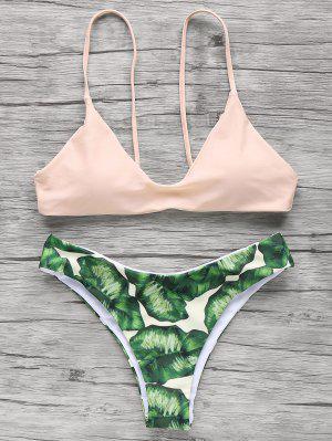 Spaghetti-Trägern Palmen-Bikini