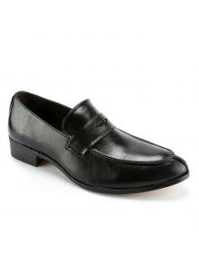 موجز بلون و بو الجلود تصميم أحذية رسمية للرجال - أسود 42