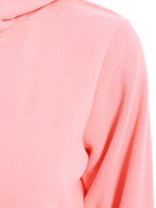 213a4fef97a 2018 Solid Color Hooded Long Sleeve Jumpsuit In PINK 2XL