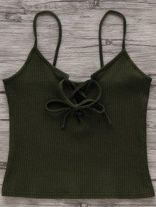 Buy Solid Color Cami Lace Tank Top - ARMY GREEN CAMOUFLAGE S
