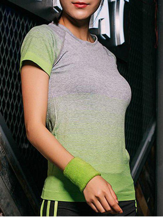 T-shirt extensible de couleur dégradé - Vert L