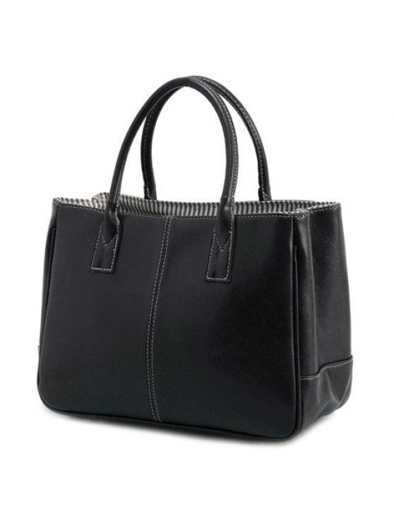 حقيبة كتف لون احمر للنساء (حقيبة يد) حقيبة كتف لون احمر للنساء - أسود