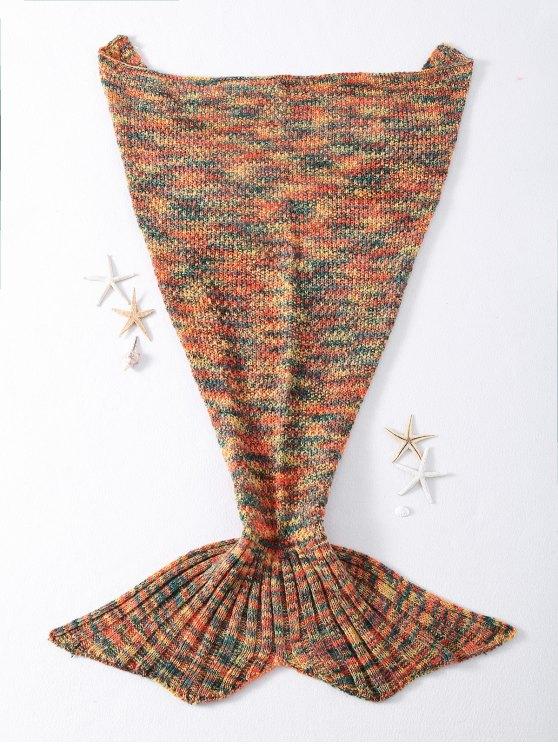 عالية الجودة مختلط اللون محبوك حورية البحر الذيل تصميم البطانيات - البرتقال الحلو