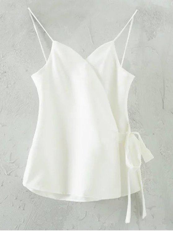 Color sólido del abrigo de Cami - Blanco S