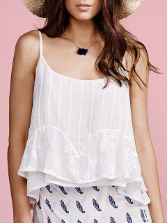Solid Color Cami Top - Blanc S