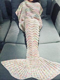 Handmade Knitted Mermaid Blanket - Off-white