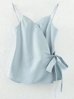 Color Sólido Del Abrigo De Cami - Azul Claro S