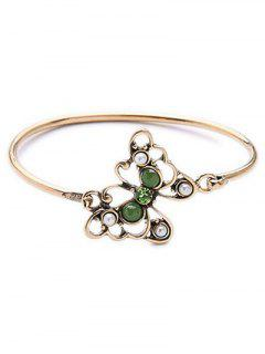 Bead Butterfly Bracelet - Golden