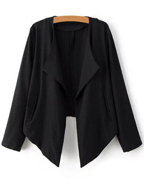 womens Cropped Back Blazer - BLACK L