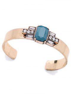 Acrylique Agrémentée Cuff Bracelet - Turquoise