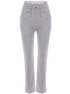 Heathered Jogging Pants - Light Gray Xl