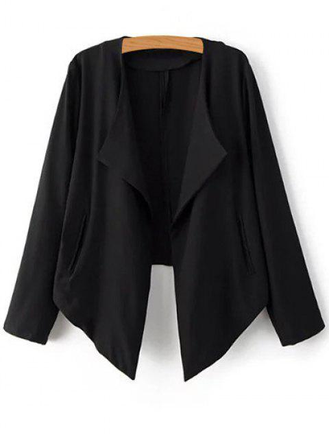 women's Cropped Back Blazer - BLACK S Mobile