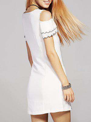 Bowknot Embellished Froide Robe - Blanc M