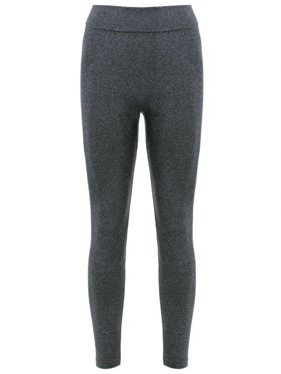trendy Active Curve Leggings - DEEP GRAY XS