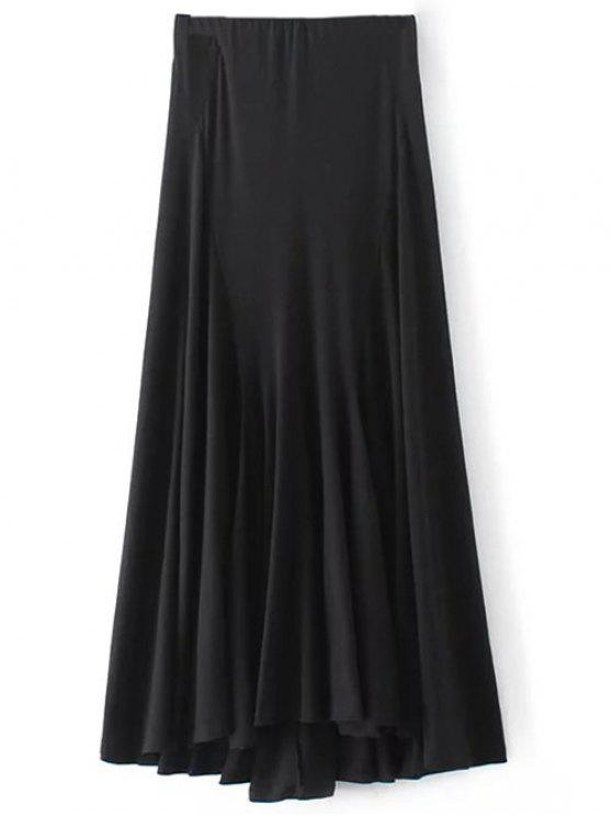 Irregular Hem Jupe taille haute - Noir S