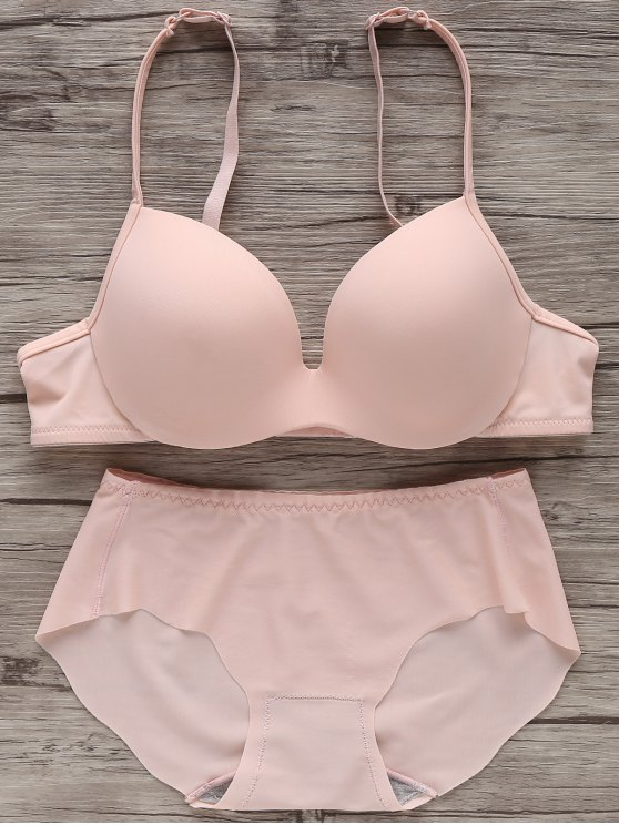 Soutien-gorge push-up sans couture - ROSE PÂLE 75C