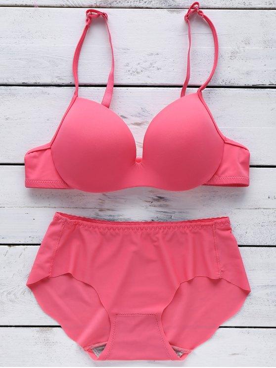 Soutien-gorge push-up sans couture - Rose Rouge 70B