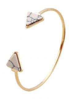 Bracelet En Faux Turquoise - Blanc