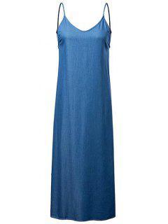 Cambray Vestido Sin Espalda Cami - Medio Azul S