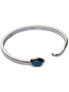 Snake Shape Cuff Bracelet - Silver