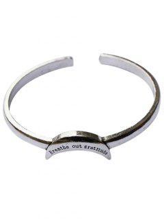 Crescent Shape Cuff Bracelet - Silver