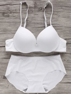 Full Cup Seamless Push Up Bra - Blanco 70a