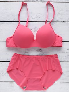 Full Cup Seamless Push Up Bra - Rose Madder 70a