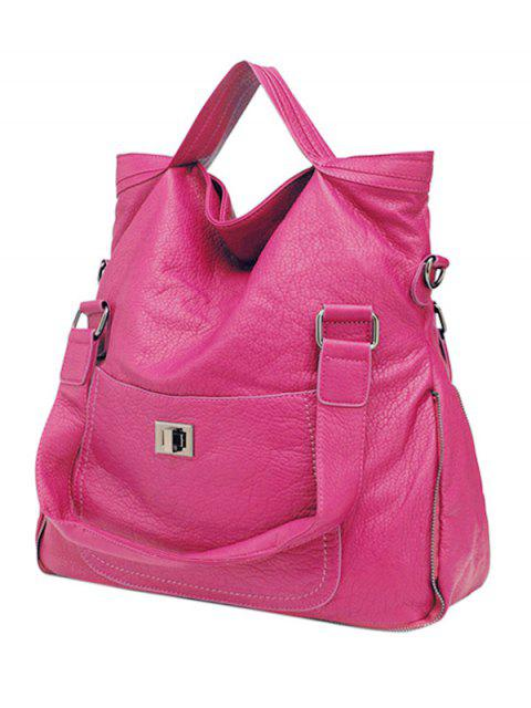 women's PU Leather Solid Color Hasp Tote Bag -   Mobile