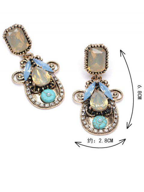 best Rhinestone Faux Crystal Water Drop Earrings -   Mobile