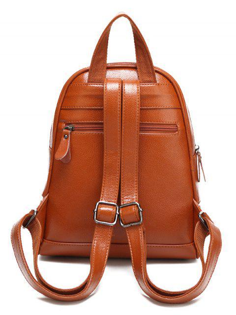 unique Rivet PU Leather Solid Color Backpack -   Mobile