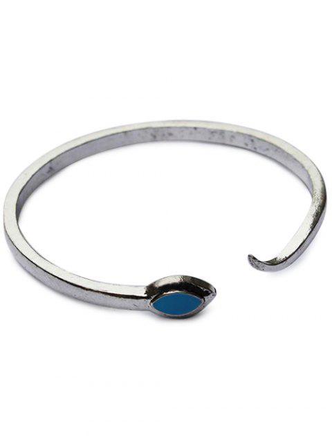 unique Snake Shape Cuff Bracelet - SILVER  Mobile