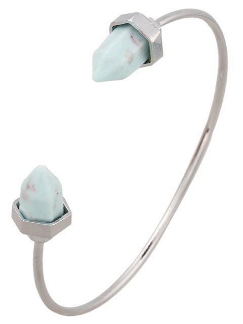 Faux Turquoise Arrowhead Cuff Bracelet - Argent  Mobile