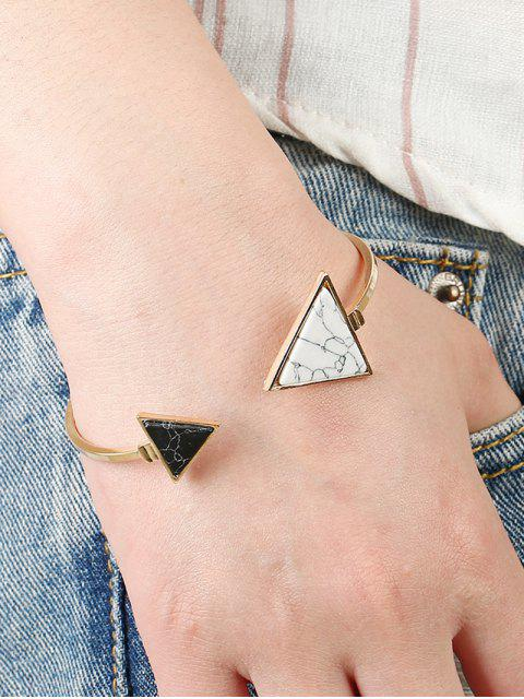 women Stone Triangle Cuff Bracelet - GOLDEN  Mobile
