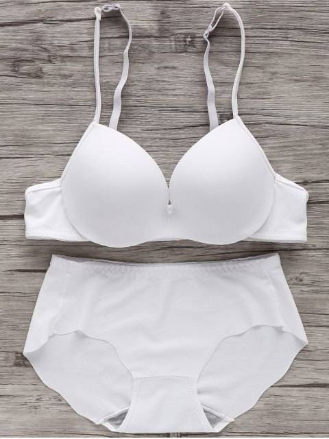 lady Full Cup Seamless Push Up Bra - WHITE 70B Mobile