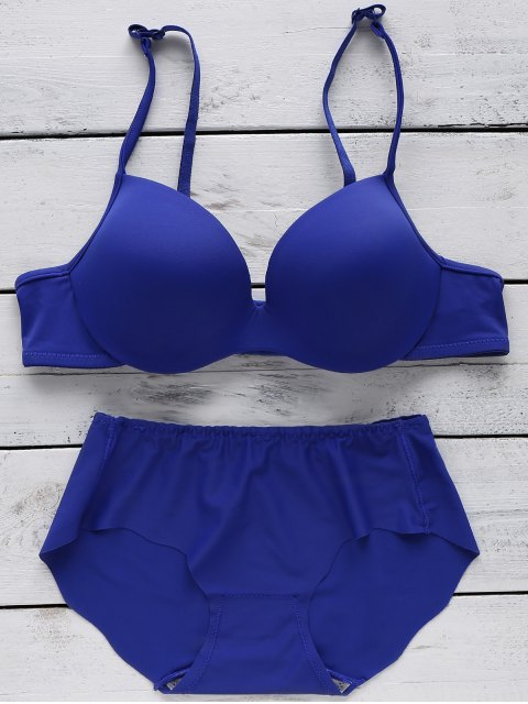 Full Cup Seamless Push Up Bra - Azul 85A Mobile
