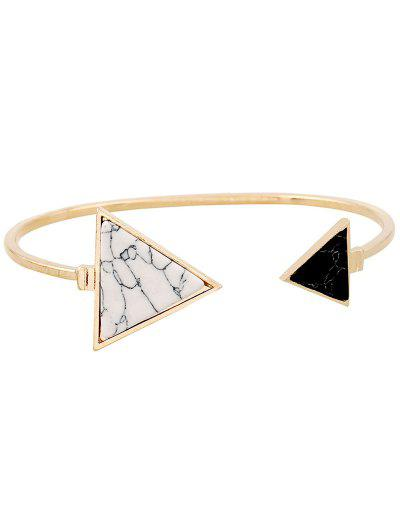 Pulseira Triângulo de Pedra - Dourado