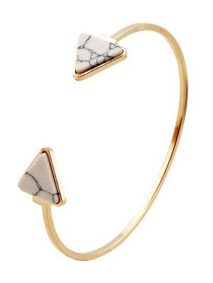 Faux Turquoise Triangle Cuff Bracelet - White