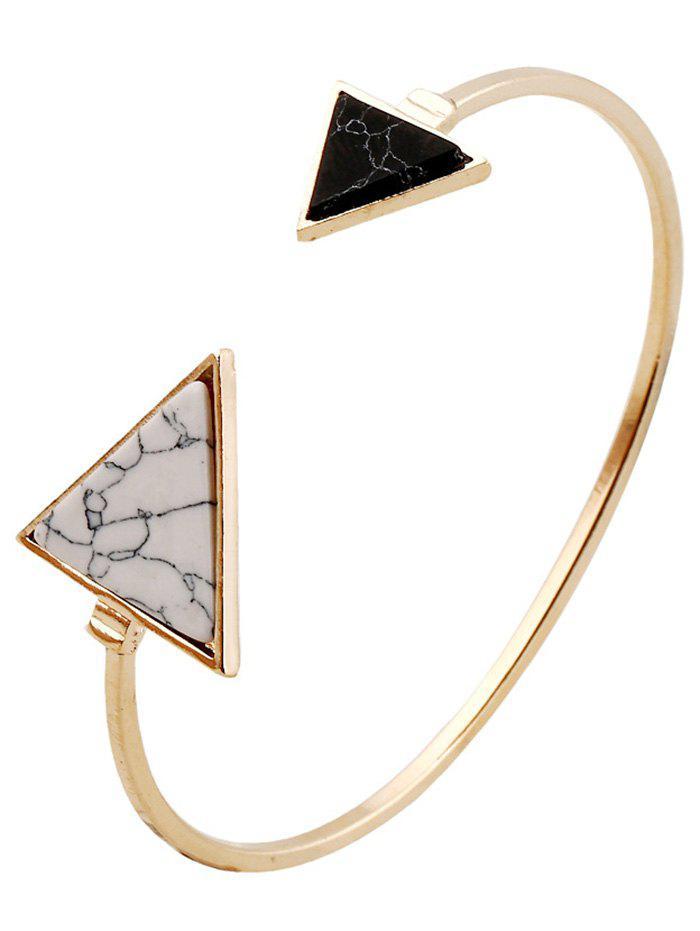 Stone Triangle Cuff Bracelet