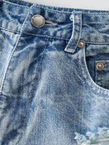 zerrissene raue selvedge jeans shorts eisblau hosen kurz. Black Bedroom Furniture Sets. Home Design Ideas