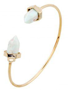 Faux Turquoise Arrowhead Cuff Bracelet - Golden
