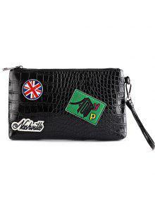 أزياء سوداء اللون والرمز البريدي تصميم مخلب حقيبة للرجال - أسود