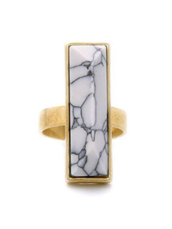 best Rectangle Stone Ring - GOLDEN