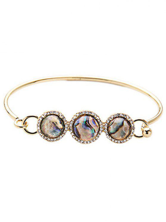 Diamantes de imitación Pulsera redonda de la piedra - Colormix