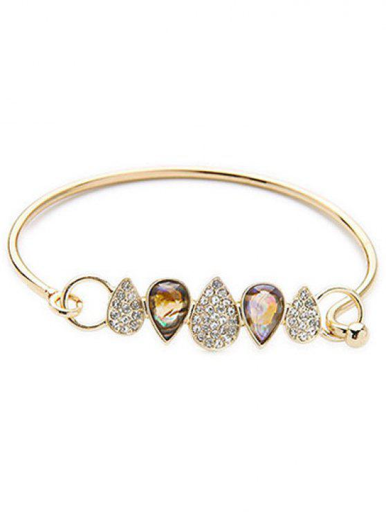 shops Water Drop Rhinestone Bracelet - GOLDEN