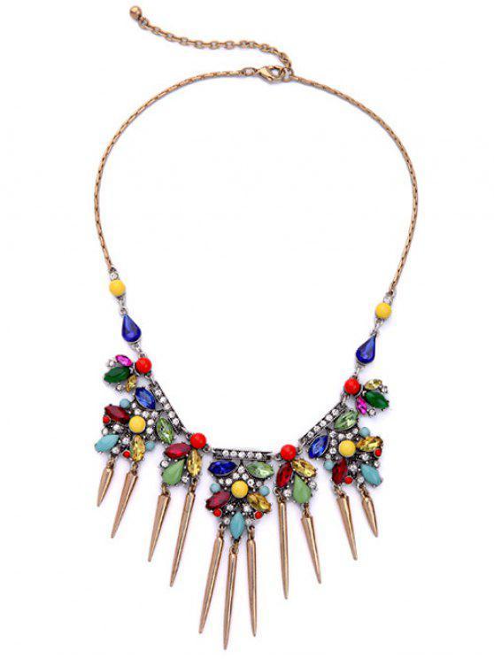 Collar de la borla del Rhinestone Crystal Faux - Colormix