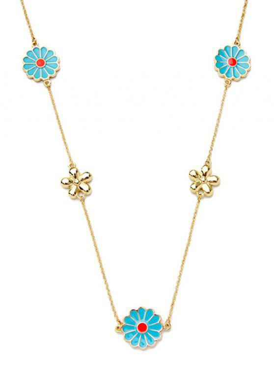 women Flowers Pendant Necklace - GOLDEN