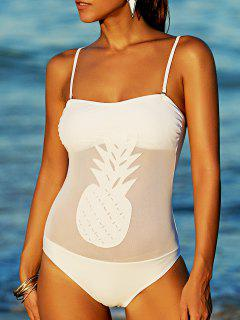 Bandeau One-Piece Swimsuit - Blanc M