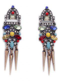 Faux Crystal Cone Rivet Earrings